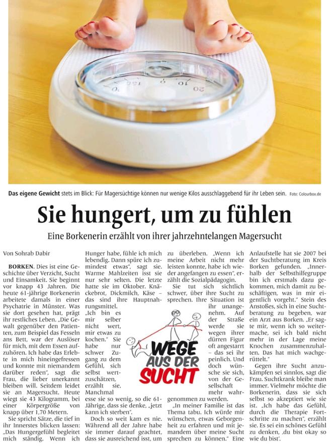 Zeitungsbericht_Selbsthilfegrupe_Essstoerung-Magersucht_BZ28.11.2015